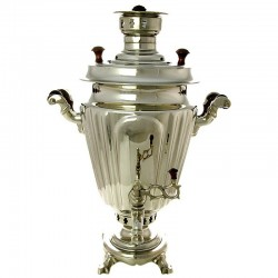 "Charcoal samovar 1,3 gal ""Cone"" plated faceted, art. 230807"