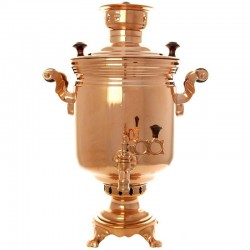 "Charcoal samovar 1,3 gal ""Cylinder"" with a copper coating, art. 220022"