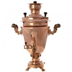"Charcoal samovar 1,3 gal ""Cone"" with a copper coating, art. 220023"