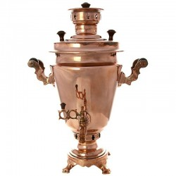 "Charcoal samovar 1,8 gal ""Cone"" with a copper coating, art. 220025"