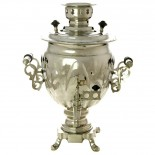 "Electric samovar 3 liter Nickel-plated ""Acorn"" with switch, art. 110322"