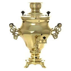 "Electric samovar 1,5 liter yellow ""cone-Tulip"" with auto shutoff when the water boils, art. 120340к"