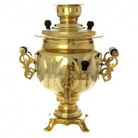 Electric samovar 3 liter yellow oval with switch, art. 120319