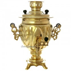 "Electric samovar 3 liter yellow ""acorn"" with the switch  art. 161500"