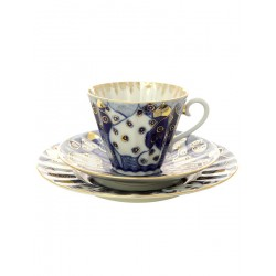 "3-the subject of the tea set is a, shape ""Radiant"" , pattern ""Chimes"", the Imperial porcelain factory"