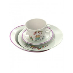 "Children's tea set 4 items, shape ""Youth"" pattern ""Misha"", the Imperial porcelain factory"