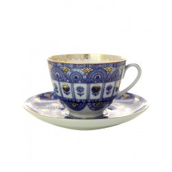 "Cup and saucer for tea, shape ""Spring"", pattern ""Arcs"", the Imperial porcelain factory"