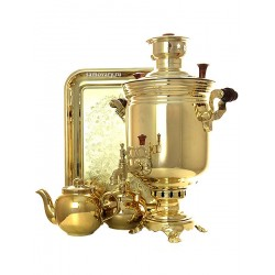 "A set of the samovar combined 1,3 gal ""Cylinder"" yellow, art. 310537"