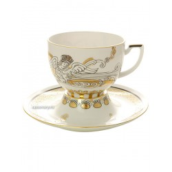 "Cup and saucer for tea, shape ""Andante"" , pattern ""Modern Russian"" Imperial porcelain factory"
