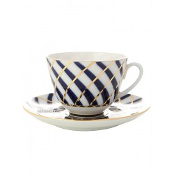 "Cup and saucer for tea, shape ""Spring"", pattern ""Todes"", the Imperial porcelain factory"