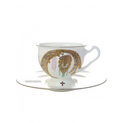"Cup and saucer for tea, shape ""Isadora"", pattern ""together Forever No. 2"" Imperial porcelain factory"