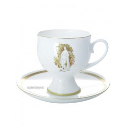 "Coffee cup with saucer, shape ""Classic 2"" pattern ""Summer Garden Muses number 2"", the Imperial Porcelain Factory"
