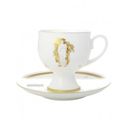 "Coffee cup with saucer, shape ""Classic 2"" pattern ""Summer Garden Muses number 1"", the Imperial Porcelain Factory"