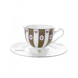 "Cup and saucer for tea, shape ""Isadora"", pattern ""Forever No. 1"" Imperial porcelain factory"