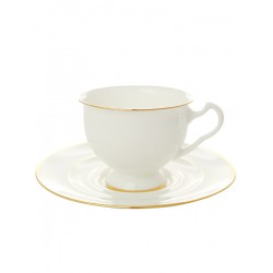 "Cup and saucer for tea, shape ""Isadora"", pattern ""Gold ribbon"" Imperial porcelain factory"
