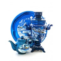 "The samovar electric 1.5 liters with artistic painting ""Winter evening"" art. 130267"