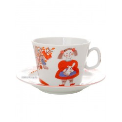 "Children's tea set 4 items, shape ""Youth"" , pattern ""Miracle tree"", the Imperial porcelain factory"