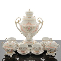 "Tea set with samovar ""Pink dreams"" for 6 persons, art. 0020514"