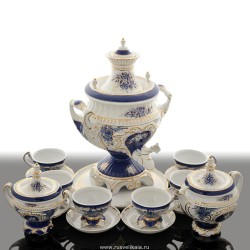 "Set with a samovar ""Evening bouquet"" for 6 persons, art. 0020525"
