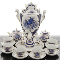 "Samovar ""Blue Lily"" and set, art. 24115"