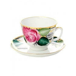 "Cup and saucer for tea, shape ""Gift"", pattern ""Love"", Imperial porcelain factory"