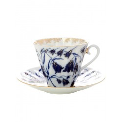 "Cup and saucer for tea, shape ""Radiant"", pattern ""Bells"", the Imperial porcelain factory"