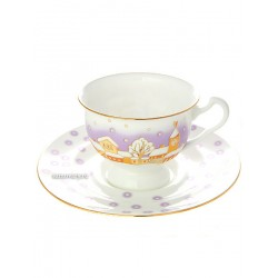 "Cup and saucer for tea, shape ""Isadora"", pattern ""Snowfall"", the Imperial porcelain factory"