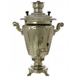 "Charcoal samovar 5 liters ""Cone"" plated corrugated, art. 210708"