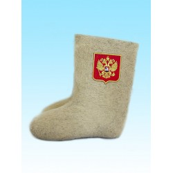 "Valenki ""Russian coat of arms large"" high-top (1074)"
