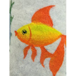 "Handmade valenki for children ""Golden fish"" (1276)"