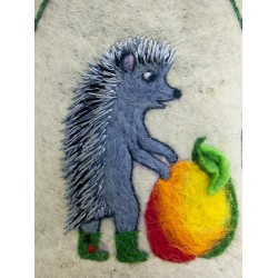 "Handmade valenki for children ""Hedgehog"" (1386)"