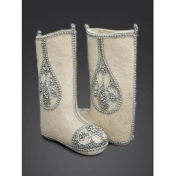 "Handmade valenki of authorship ""Drop of grace"", collection ""Wedding"" with sole (1508)"