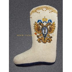 "Handmade valenki of authorship to ""Defender of motherland"" (with or without sole)"
