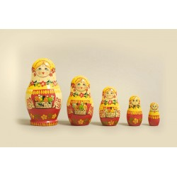"Nesting Doll 5 pcs. ""Pattern"" C-6 (101)"