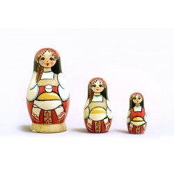 "Nesting Doll 3 pcs. ""Pattern"" C-4 (109)"