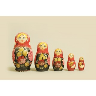 "Nesting Doll 5 pcs. ""Pattern"" C-6 (113)"