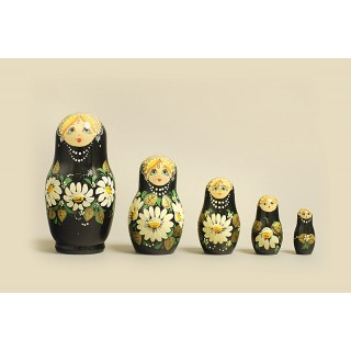 "Nesting Doll 5 pcs. ""Pattern"" C-6 (119)"