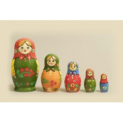 "Nesting Doll 5 pcs. ""Pattern"" C-6 (133)"