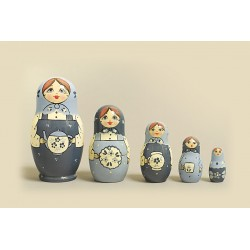 "Nesting Doll 5 pcs. ""Pattern"" C-6 (136)"