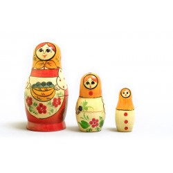 "Nesting Doll 3 pcs. ""Pattern"" C-4 (137)"