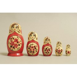 "Nesting Doll 5 pcs. ""Pattern"" C-6 (144)"