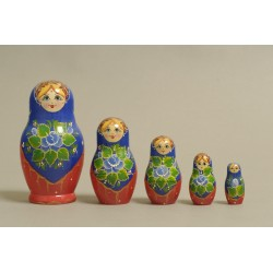 "Nesting Doll 5 pcs. ""Pattern"" C-6 (145)"