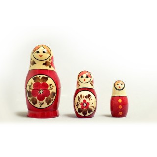 "Nesting Doll 3 pcs. ""Pattern"" C-4 (16)"
