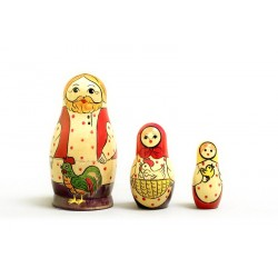 "Nesting Doll 3 pcs. ""Pattern"" C-4 (160)"