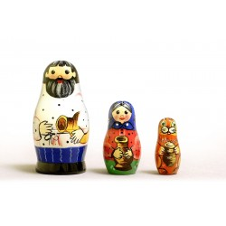 "Nesting Doll 3 pcs. ""Pattern"" C-4 (161)"