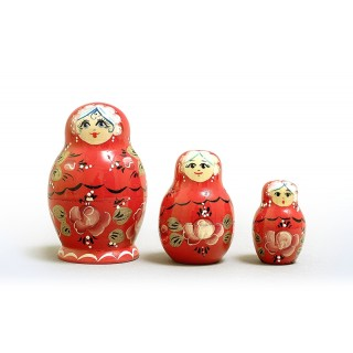 "Nesting Doll 3 pcs. ""Pattern"" C-4 (162)"