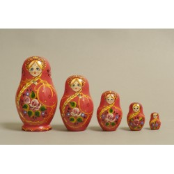 "Nesting Doll 5 pcs. ""Pattern"" C-6 (164)"