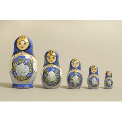 "Nesting Doll 5 pcs. ""Pattern"" C-6 (170)"