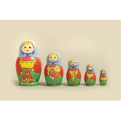 "Nesting Doll 5 pcs. ""Pattern"" C-6 (171)"
