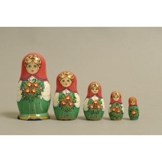 "Nesting Doll 5 pcs. ""Pattern"" C-6 (178)"